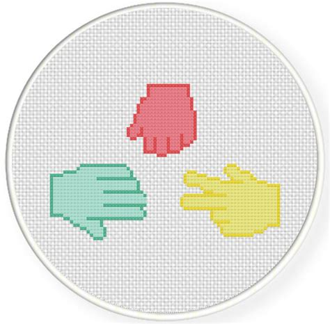 pattern paper for cross stitch rock paper scissors cross stitch pattern daily cross stitch