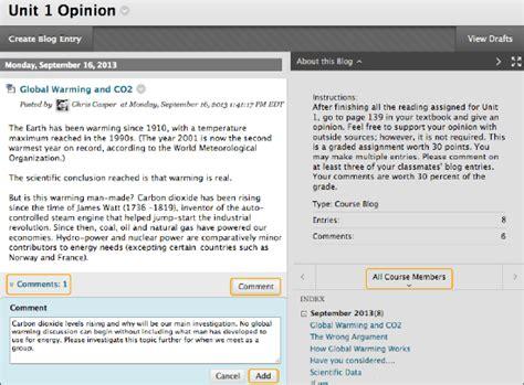blog about blogs blackboard help