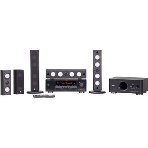 yamaha yht 590bl 5 1 channel home theater system yht 590bl b h