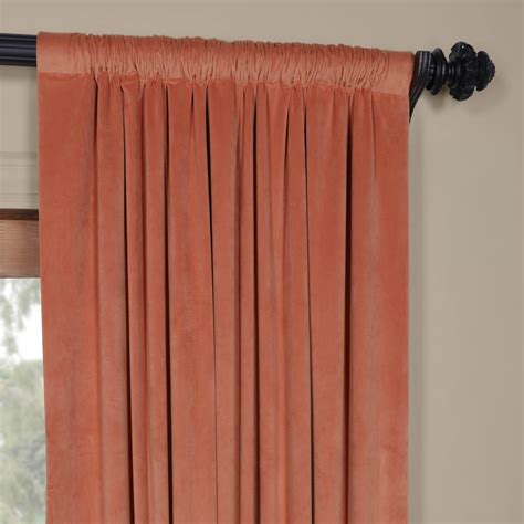 Coral Blackout Curtains Luxury Signature Desert Coral Blackout Velvet Curtain