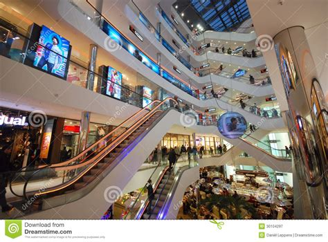shopping in dusseldorf editorial photography image of