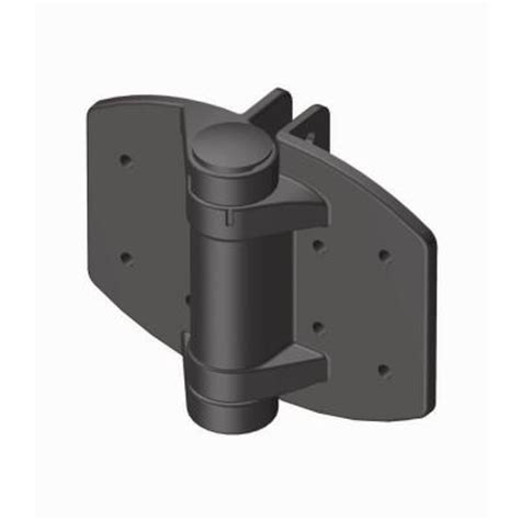 clark black loaded gate hinges for vinyl and wood