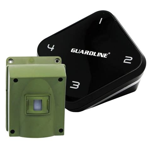 Driving Alarm guardline 1 4 mile range driveway alarm top wireless outdoor motion detector and