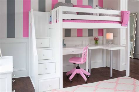 white bunk bed with desk 25 best ideas about loft bed desk on bunk bed