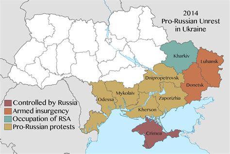 map ukraine conflict 2014 pro russian unrest in ukraine