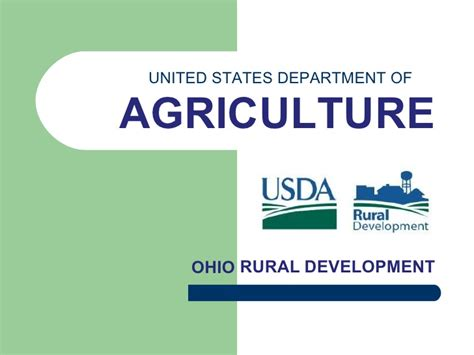 united states department of agriculture rural development ohio rural development part i