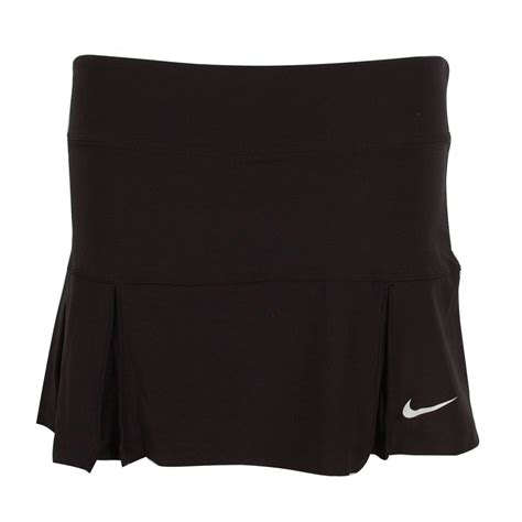 nike s four pleated knit tennis skirt black