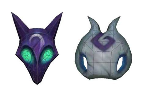 Papercraft Wolf Mask - league of legends kindred wolf and mask papercrafts