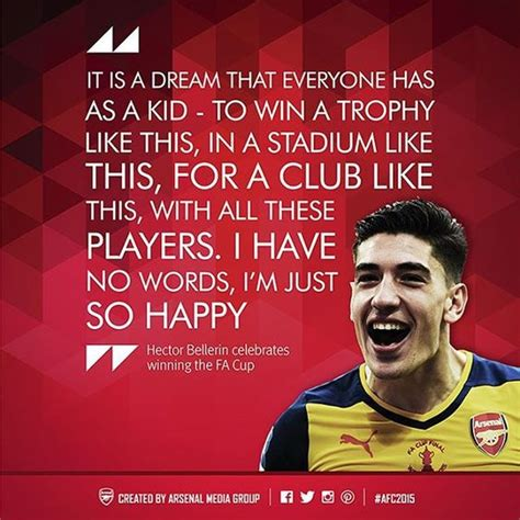 Arsenal Quotes | arsenal quotes of 2015 h 233 ctor beller 237 n on winning the fa
