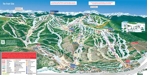 vail map ski holidays at vail mountain colorado ski usa ed 4 ski