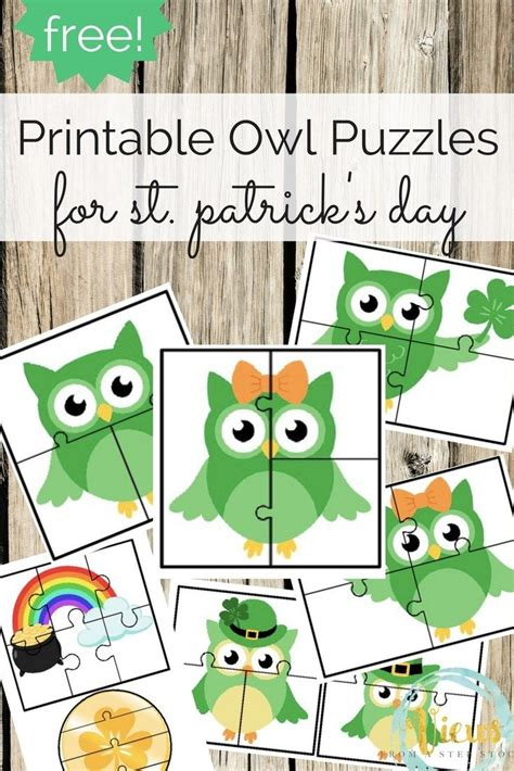 printable owl puzzle 358 best images about printable activities on pinterest