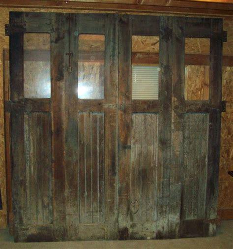 Bi Fold Barn Doors 93 Quot H X 86 1 2 Quot W Primitive Antique Bifold Carriage