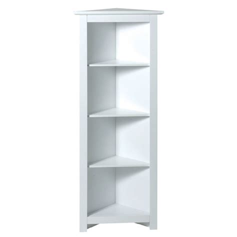 White Corner Shelf by White 4 Tier Corner Shelf Unit 241562l At