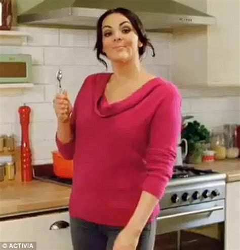 activia commercial actress brunette martine mccutcheon cuts a much fuller figure than her