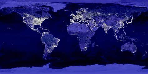 world lights world lights and population blue marble