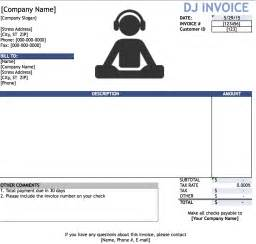 Dj Booking Contract Template by Free Dj Disc Jockey Invoice Template Excel Pdf