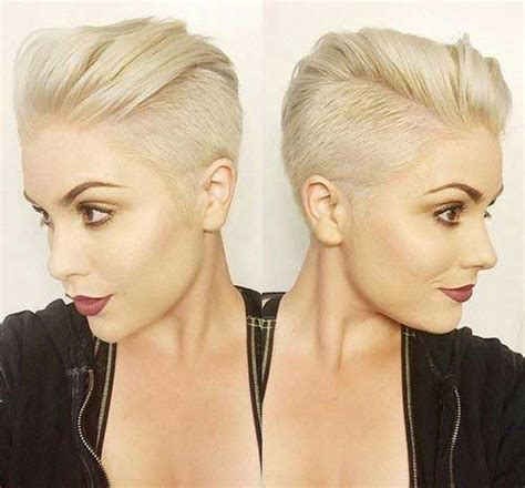 half shaved pixie haircut 9 latest short hairstyles for women with fine hair