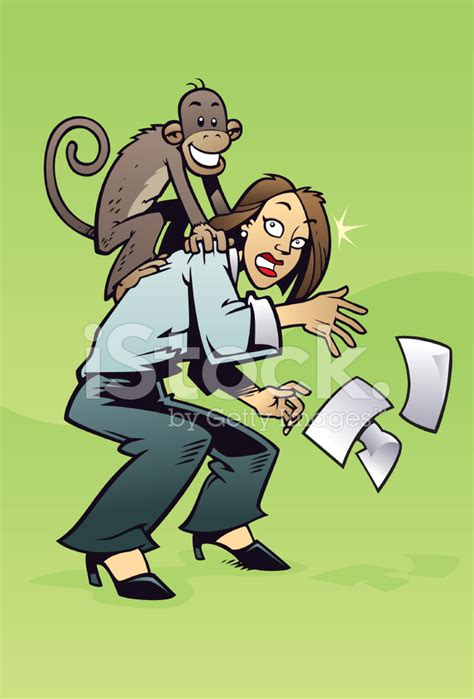 Home Designs And Architecture Concepts There S A Monkey On My Back Stock Vector Freeimages Com