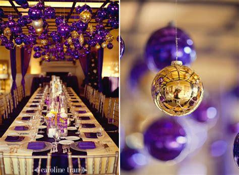 Purple And Gold Decorations by Cool Purple Winter Wedding Decoration Ideaswedwebtalks