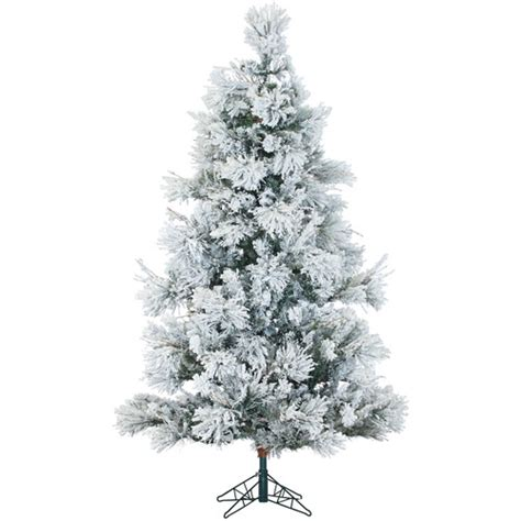 real flocked trees on sale snowy pine 7 5 green artificial tree with 650