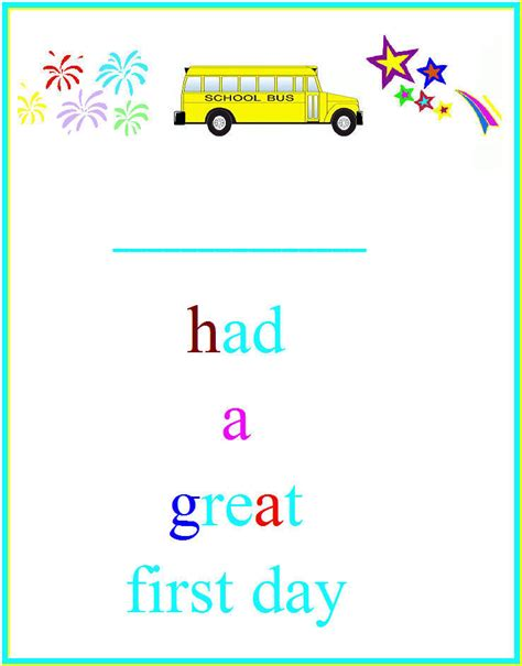 1st Day Card Templates by Day Of School Certificates Munchkins And