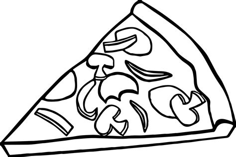 pepperoni pizza slice coloring page wecoloringpage