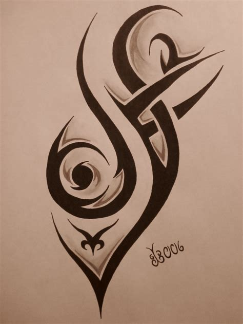 tribal shadow tattoo designs tribal design 4 by blackbutterfly006 on deviantart