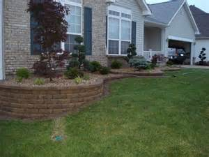 retaining wall front yard landscaping o fallon missouri outdoor spaces oh my