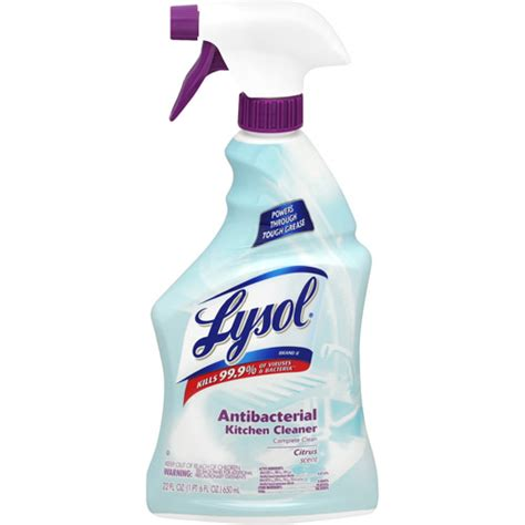 Kitchen Cleaner by Lysol Antibacterial Kitchen Cleaner Citrus Scent 22 Oz