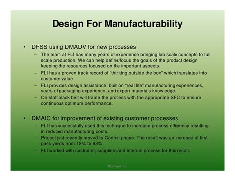 design for manufacturability handbook general for release
