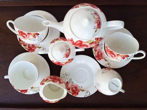 Cup Saucer Tea Set Cangkir Lepek Dengan Tutup Y85 Vicenza capodimonte tea set 17pc csh 2025 decoco