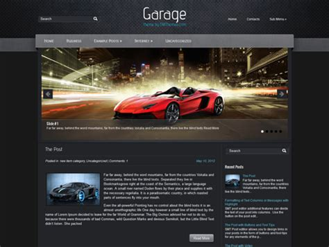 garage website garage free theme
