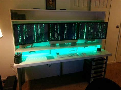 Diy Trading Station Ikea Hack Pc Gameing Pinterest Diy Gaming Desk