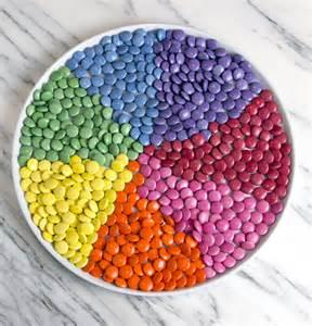 smarties rainbow chocolate cake salt and serenity