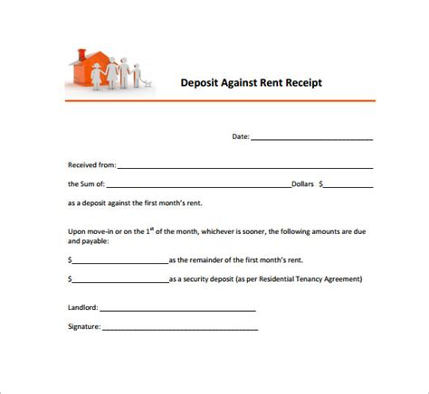 rent receipt template uk pdf 26 rent receipt templates doc pdf free premium