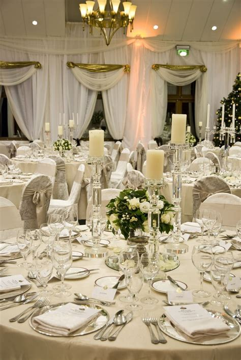 A gorgeous wedding table setting in The K Club. The