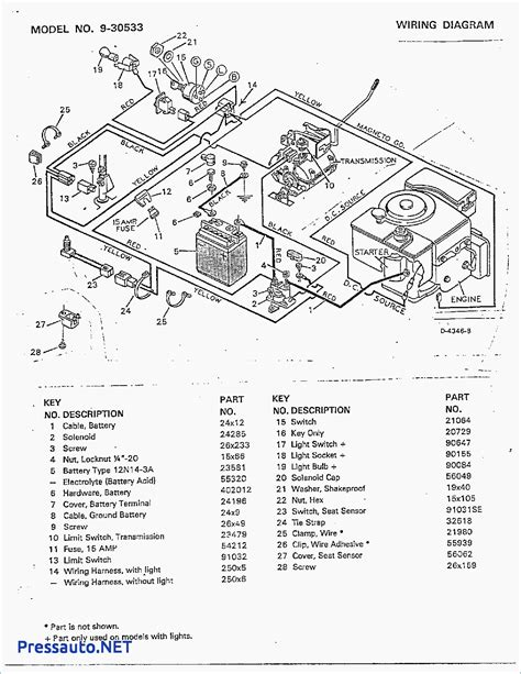 murray mower electrical wiring diagram wiring
