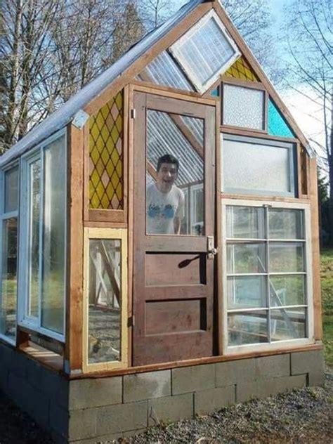 greenhouse   recycled windows  window