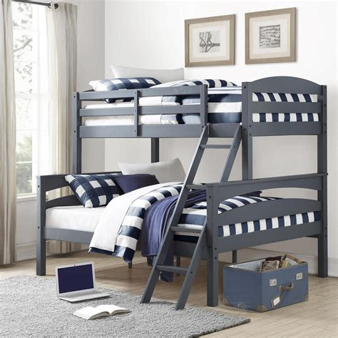 gray wood bed dorel brady twin over full gray wood bunk bed fa6940gr