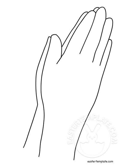 template of praying praying template printable best photos of praying craft template praying