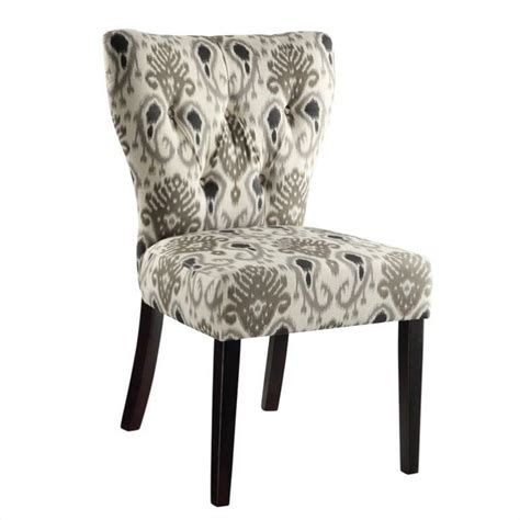 Ikat Armchair by Dining Chair In Medallion Ikat Grey And M15