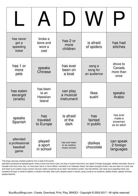 Get To You Bingo Card Template by Getting To You Bingo Images