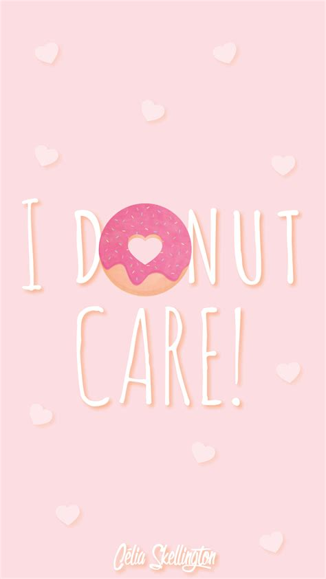 pink girl pastel donut love iphone home wallpaper atpanpins