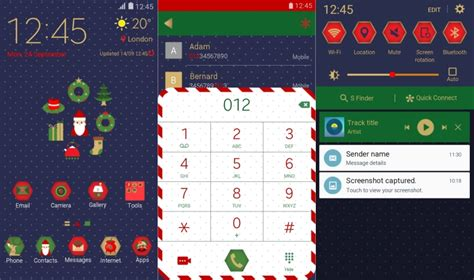 christmas themes samsung best new samsung themes for the galaxy note 5 galaxy s6