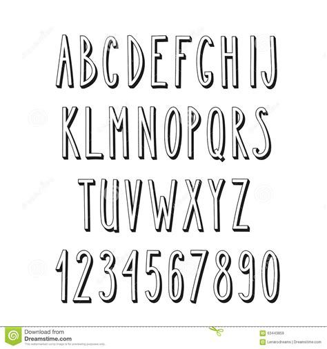 thin decorative font doodle narrow alphabet simple letters stock illustration