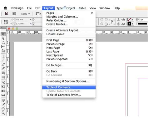 indesign table of contents template image collections