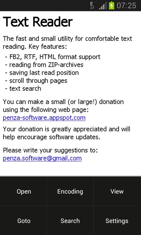 text reader for android text reader appstore for android