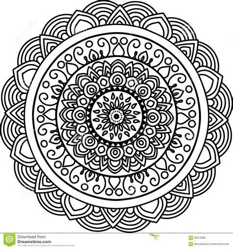 sketch pattern color round mandala stock illustration image 68313086