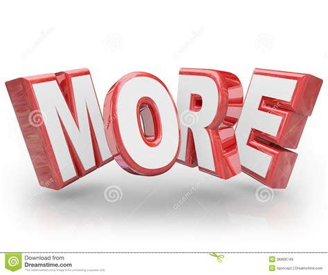 more clipart more 3d word increase improve larger bigger demand stock