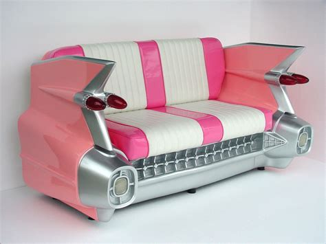 awesome couches cadillac sofa pink 1959 cadillac sofa